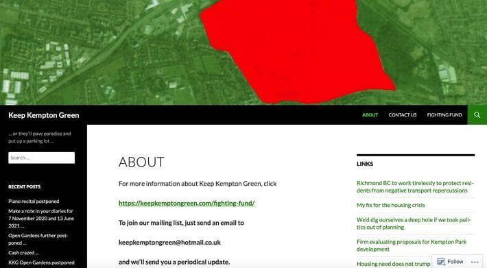 Keep Kempton Green website
