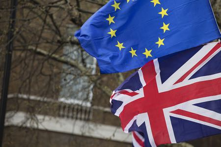 UK Union Jack & EU Flags