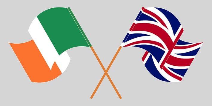 Irish & British flags