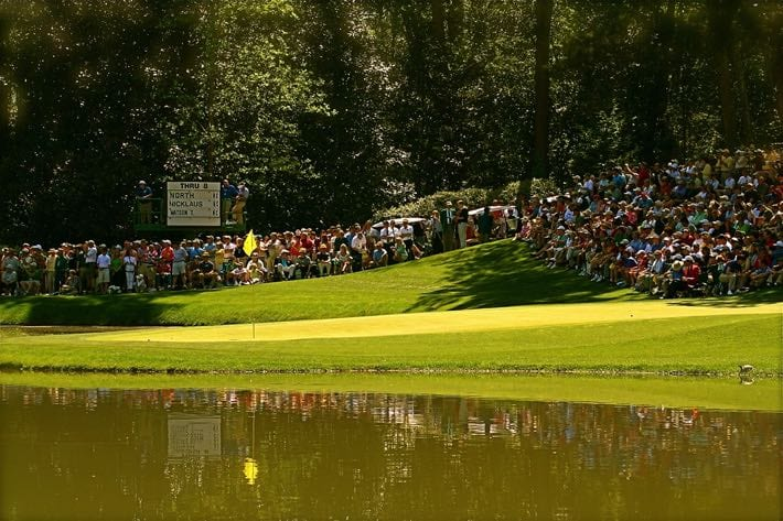 The crowds at the US Masters tournament