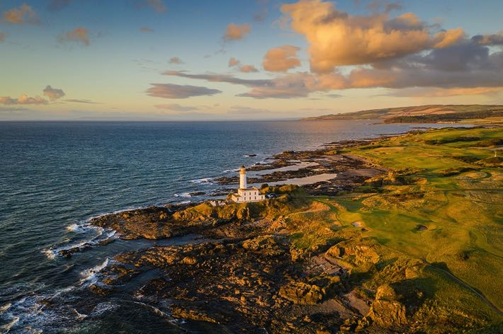 Turnberry Lighthouse in Scotland