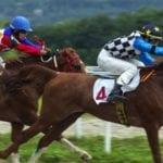 Jockeys racing