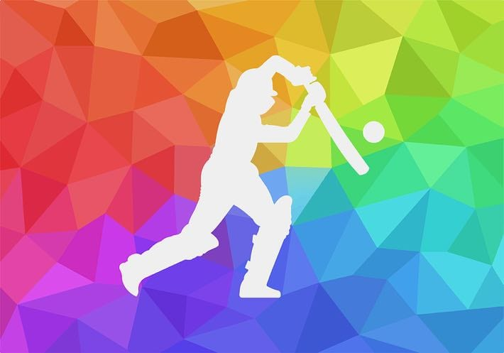 Colourful cricket player