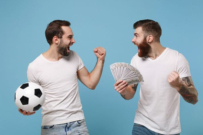 Excited punters win their bet