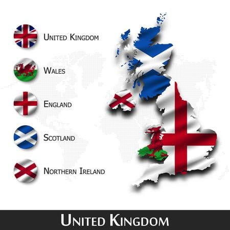 Home Nations map