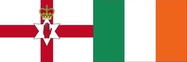 Northern Ireland & Ireland flags