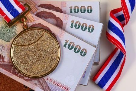 Gold medal Thai money