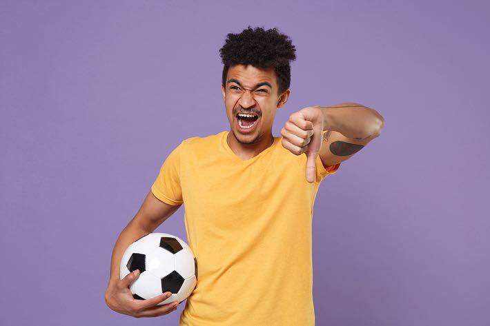 Angry football fan