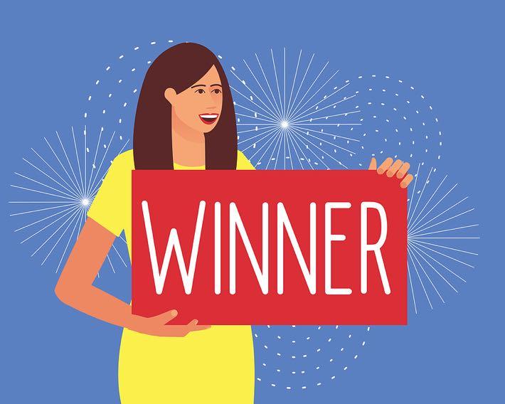 Woman lottery winner