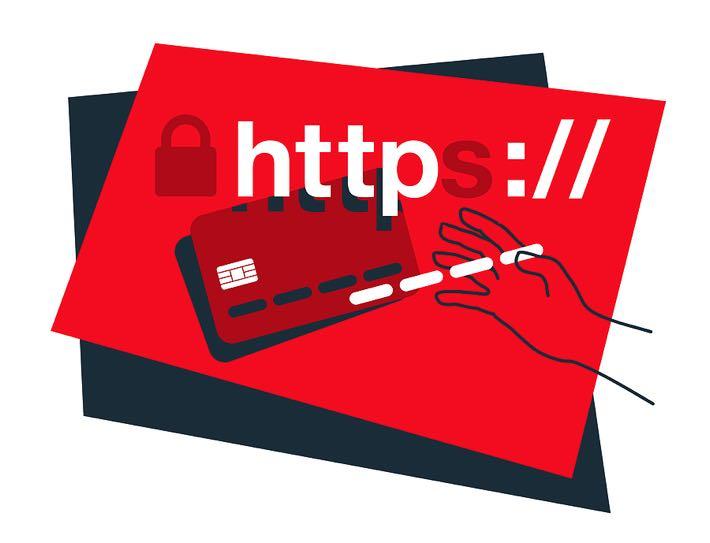 Illegal website concept